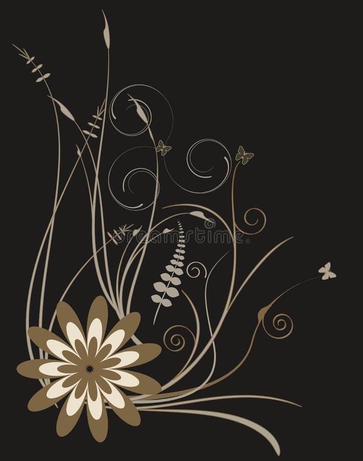 Fundo floral retro do vetor foto de stock royalty free