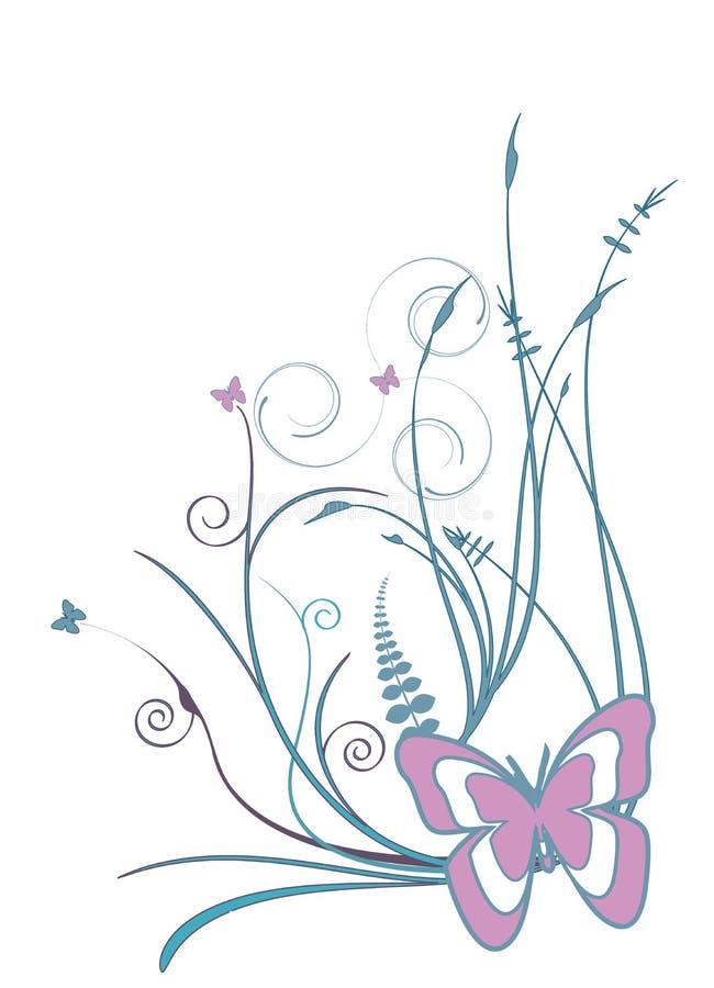 Fundo floral retro do vetor imagem de stock