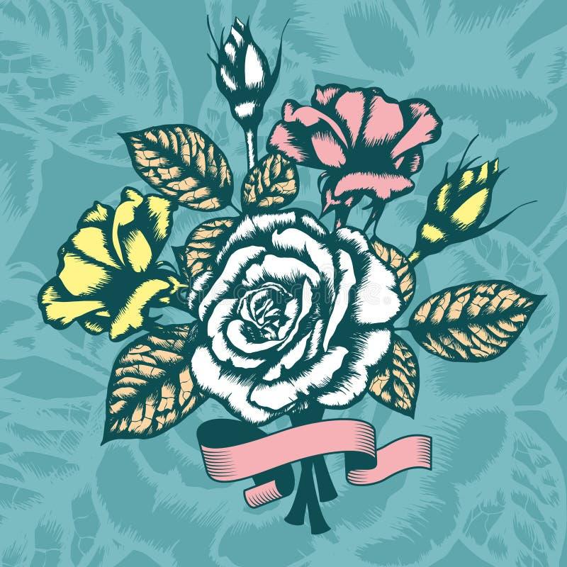 Fundo floral romântico ilustração do vetor