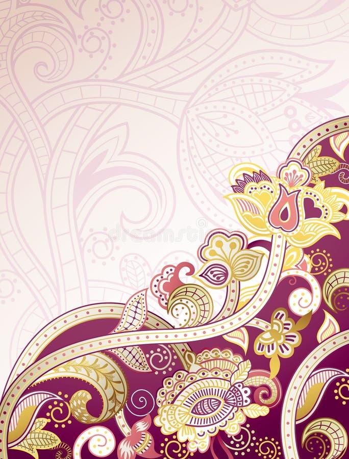 Fundo floral roxo abstrato ilustração stock