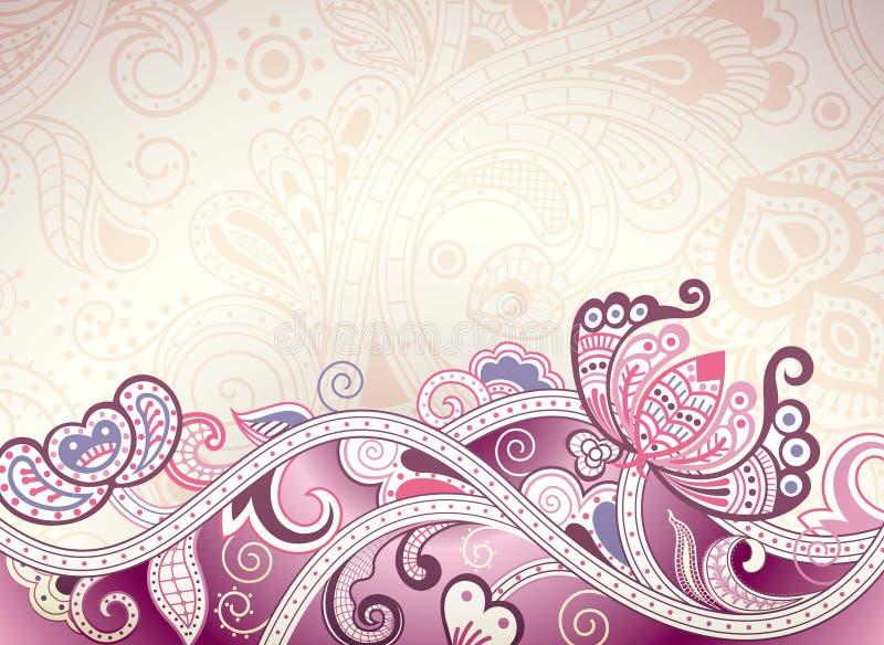 Fundo floral roxo abstrato ilustração do vetor