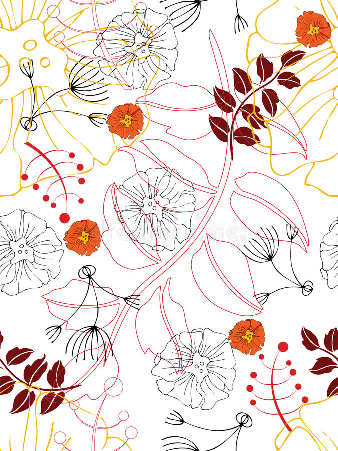 Fundo floral sem emenda ilustração stock