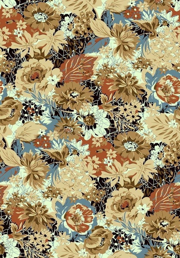 Fundo floral sem emenda do projeto da flor ilustração royalty free