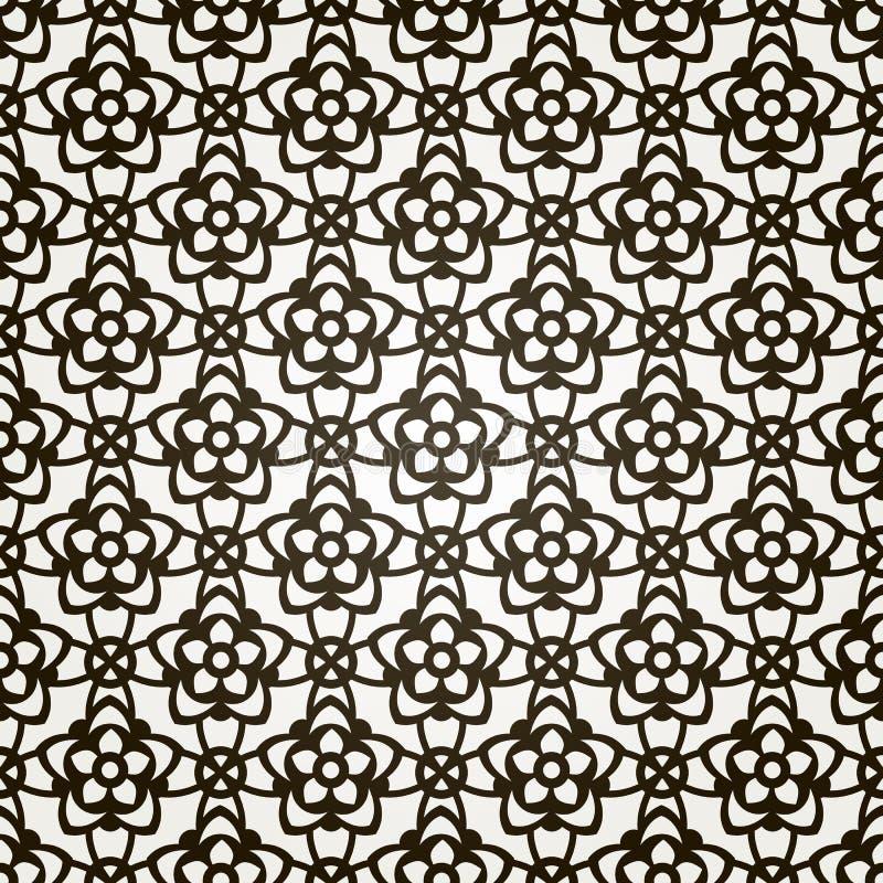 Fundo floral sem emenda do vetor. Teste padrão do laço. ilustração do vetor