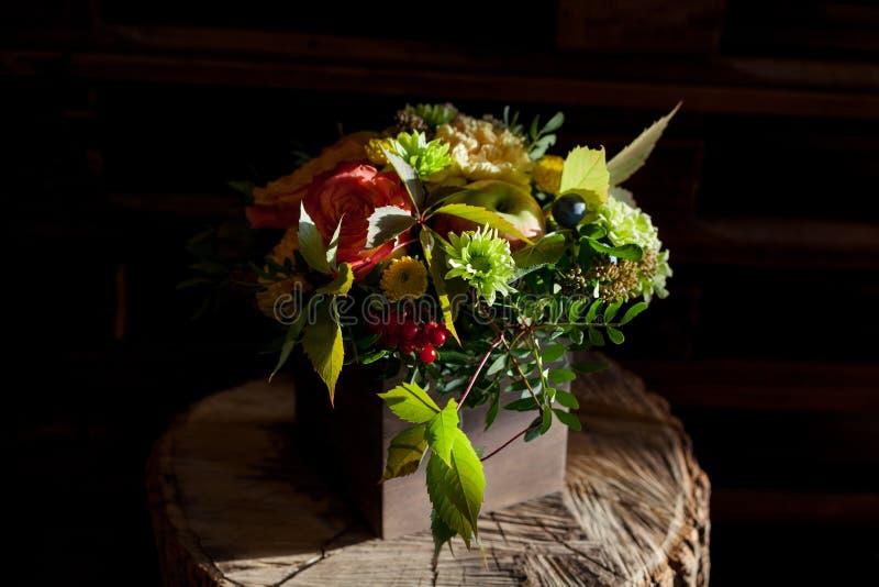 Fundo floral surpreendente com raios do sol fotografia de stock royalty free