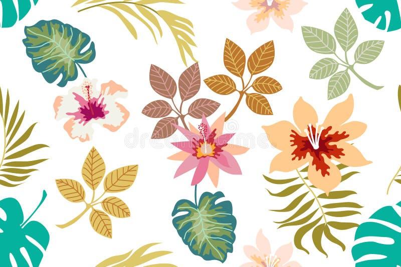 Download Fundo floral tropical ilustração do vetor. Ilustração de hawaiian - 107528314