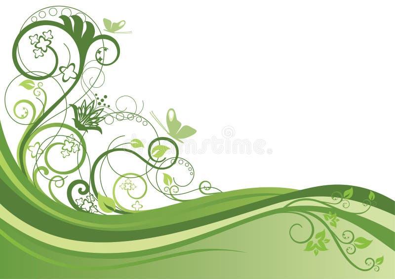 Fundo floral verde ilustração do vetor