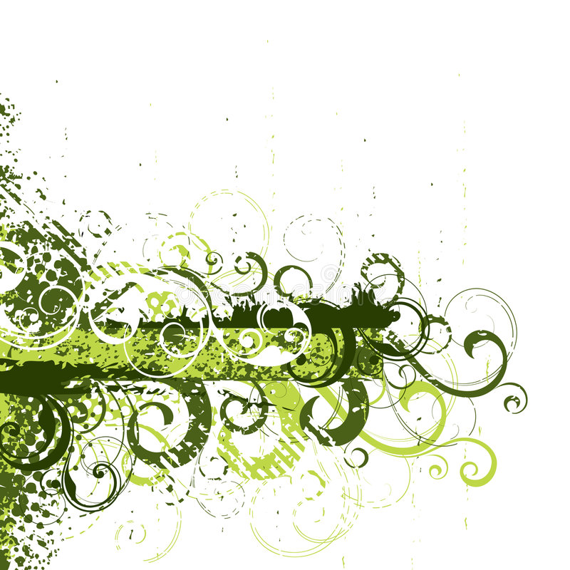 Fundo floral verde ilustração royalty free