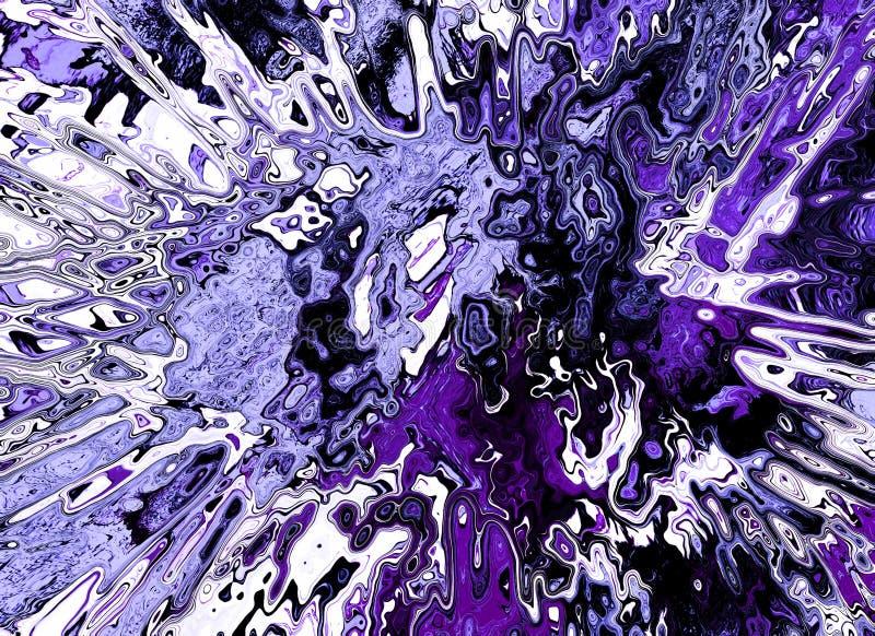 Fundo fluido abstrato brilhante ilustração do vetor