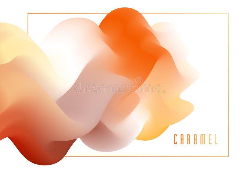 Fundo fluido do sumário do vetor da forma da cor 3D do inclinação, elemento dimensional dinâmico do projeto no movimento ilustração do vetor