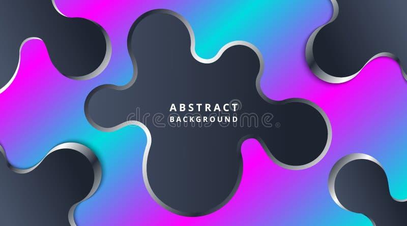 Fundo fluido moderno dinâmico de néon escuro de Techno ilustração do vetor