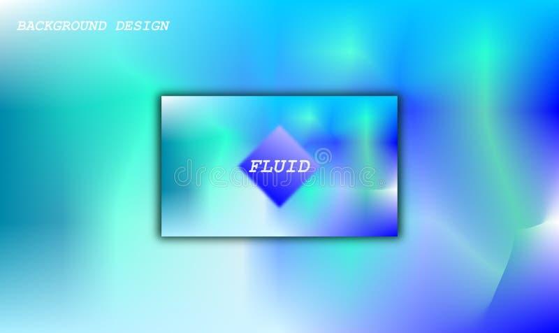 Fundo fluido moderno do sumário ilustração stock