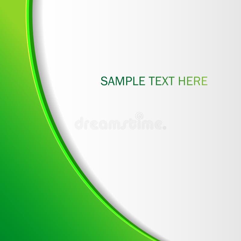 Fundo/folheto verdes abstratos para seu projeto Papel de parede do vetor fotografia de stock royalty free