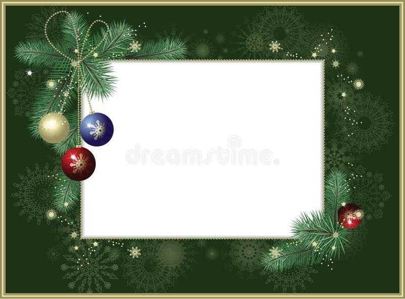 Fundo-frame com flocos de neve ilustração stock