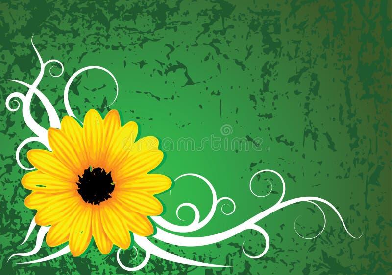 Fundo fresco da flor do grunge ilustração stock