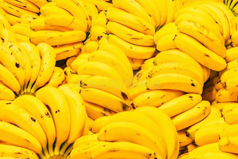 Fundo fresco do amarelo da banana imagem de stock