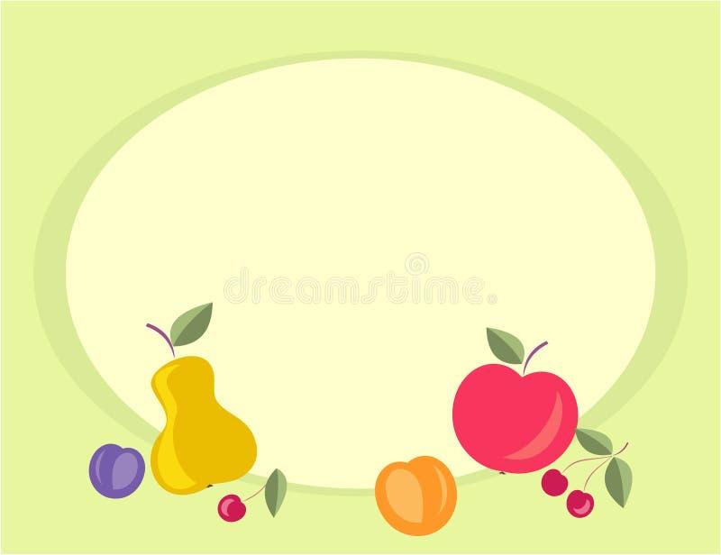 Fundo Fruity ilustração stock