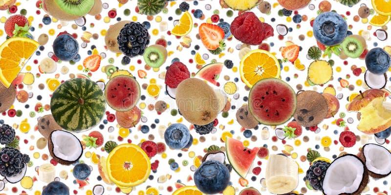 Fundo frutado (no branco) fotos de stock