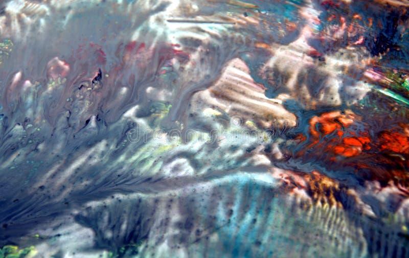 Fundo fumarento branco azul vívido colorido, fundo de pintura da aquarela, cores abstratas de pintura imagens de stock
