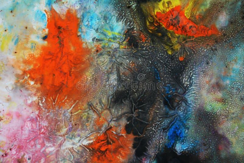 Fundo fumarento vívido colorido, fundo de pintura da aquarela, cores abstratas de pintura foto de stock royalty free