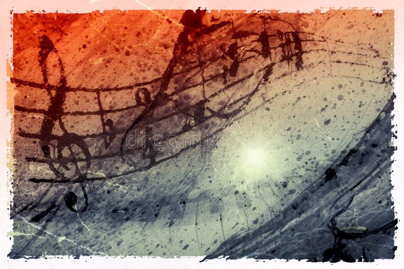 Fundo Funky da música ilustração do vetor