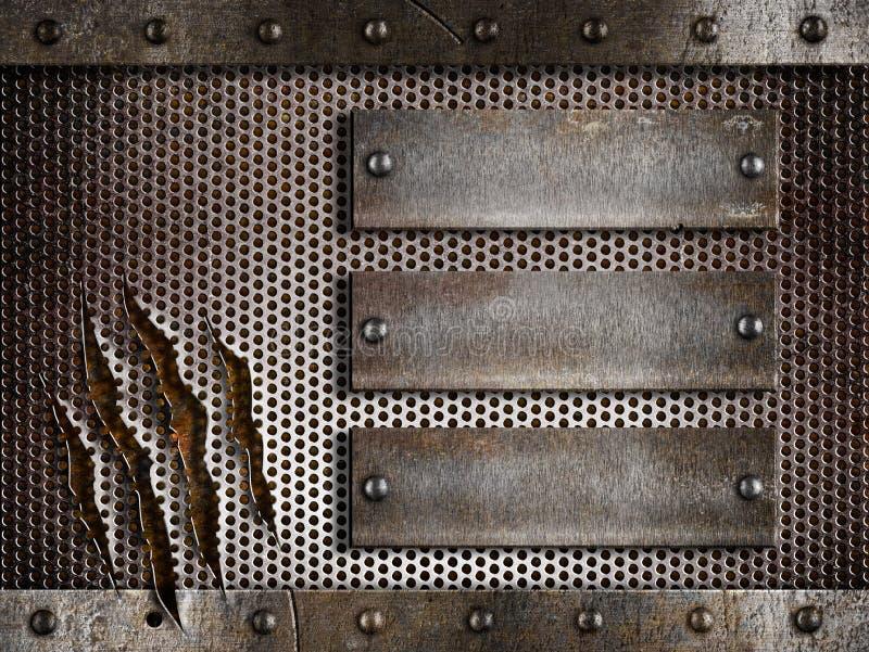 Fundo furado ou perfurado do metal da grade imagem de stock royalty free