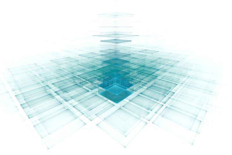 Fundo futurista abstrato ilustração stock
