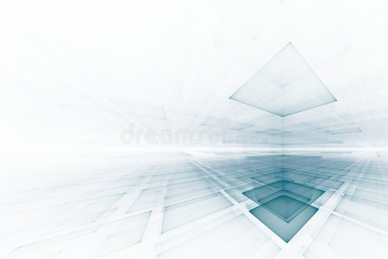 Fundo futurista abstrato ilustração do vetor