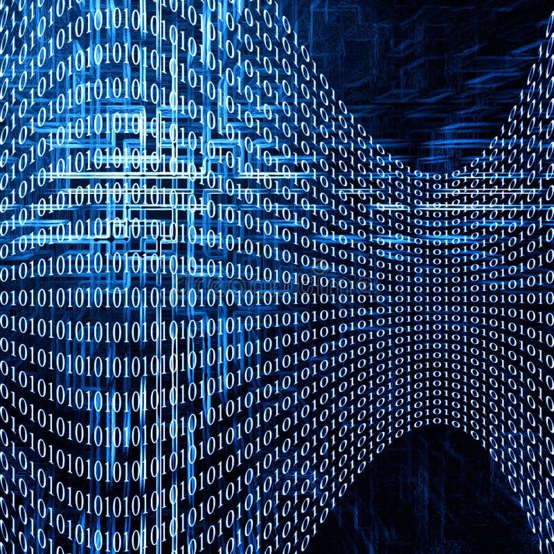 Fundo futurista abstrato com números de código ilustração stock