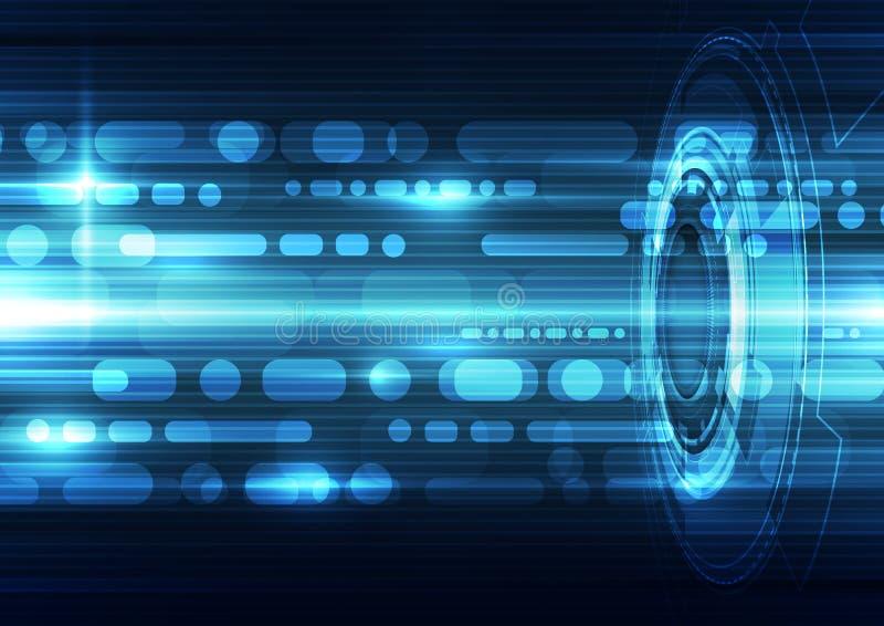 Fundo futurista abstrato da tecnologia da velocidade vetor da ilustração ilustração do vetor