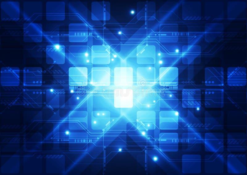 Fundo futurista abstrato da tecnologia digital Ilustração ilustração do vetor