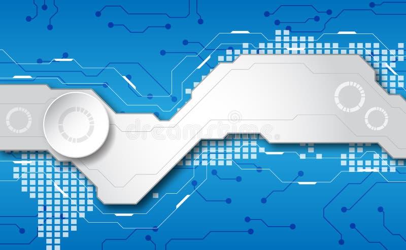 Fundo futurista abstrato da tecnologia digital vetor da ilustra??o ilustração do vetor