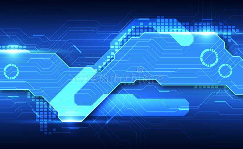 Fundo futurista abstrato da tecnologia digital vetor da ilustra??o ilustração royalty free