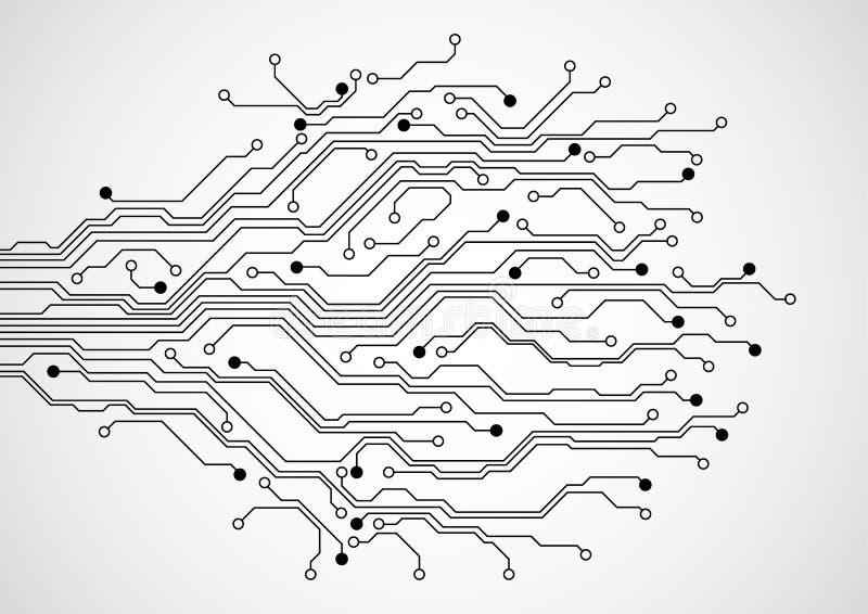 Fundo futurista abstrato do conceito da placa de circuito da tecnologia, ilustração do vetor ilustração royalty free