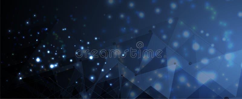 Fundo futurista abstrato do negócio da informática  ilustração stock