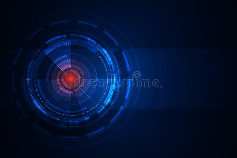 Fundo futurista abstrato do projeto de conceito da tecnologia Ilustra??o EPS10 do vetor ilustração royalty free