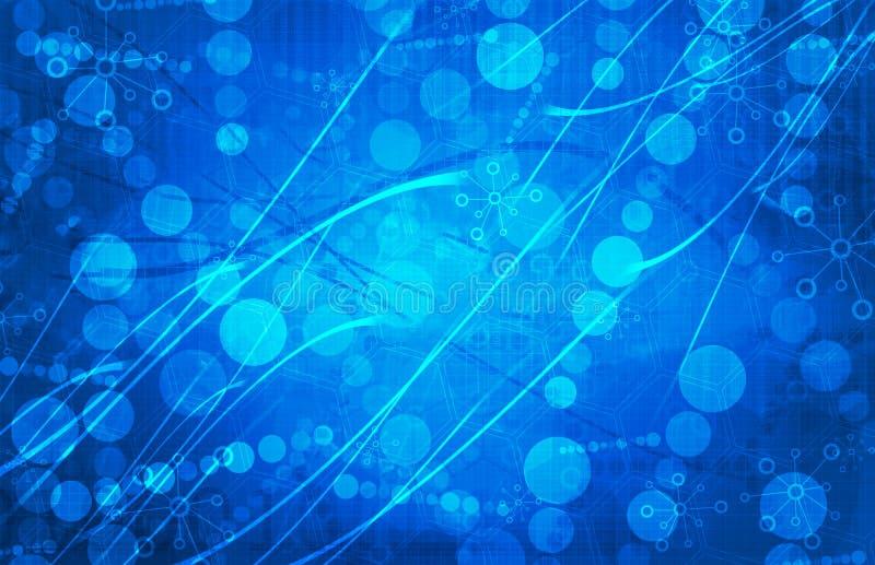 Fundo futurista azul do sumário da tecnologia da ciência médica foto de stock