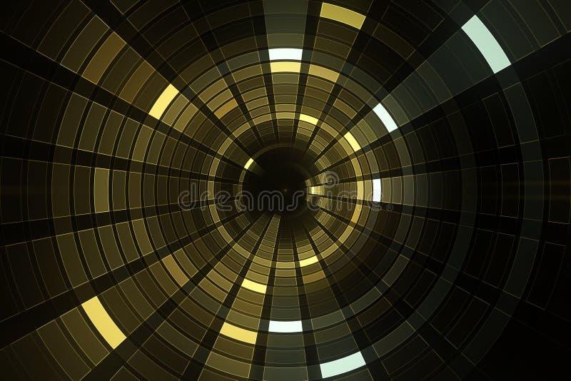fundo futurista da ficção científica do sumário 3D ilustração royalty free