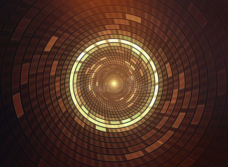 fundo futurista da ficção científica do sumário 3D ilustração do vetor