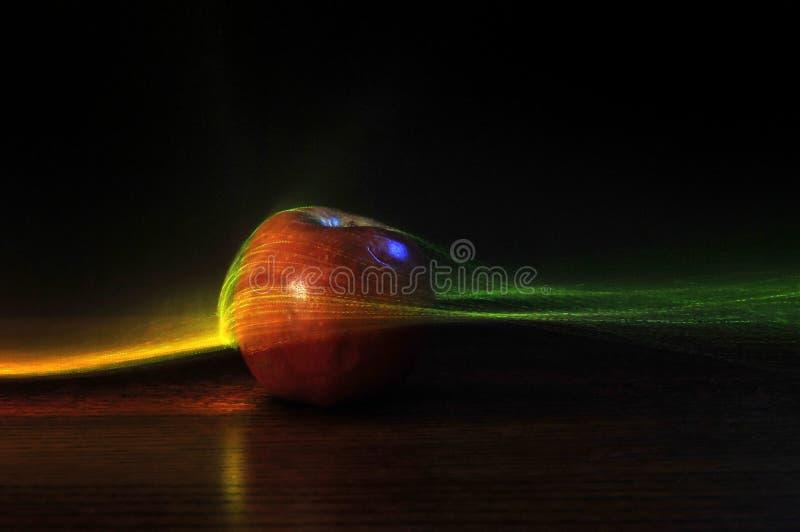 Fundo futurista de Apple imagem de stock