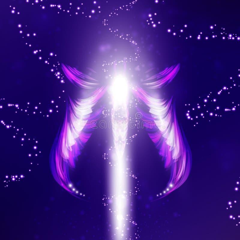 Fundo futurista do anjo ilustração stock