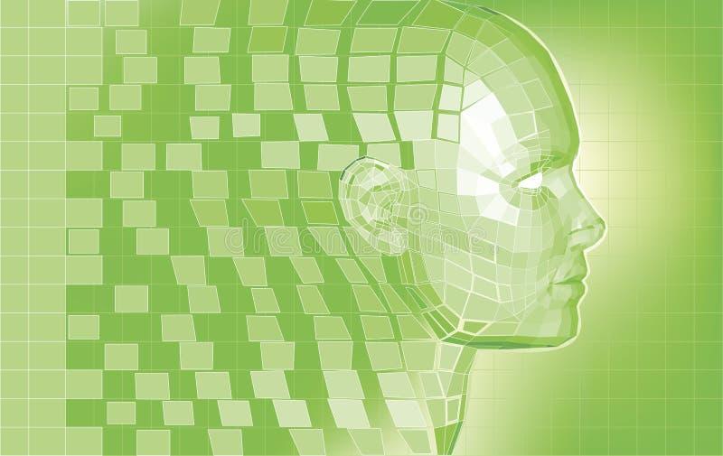 Fundo futurista do engranzamento do polígono do avatar ilustração stock