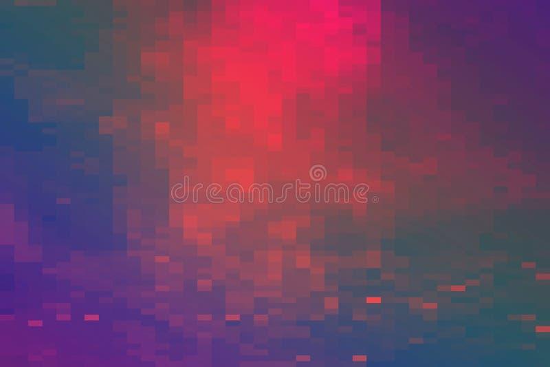 Fundo futurista do estilo retro dos anos 80 Digitas ou superfície do Cyber luzes de néon e teste padrão geométrico, pulso aleatór ilustração stock