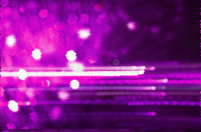 Fundo futurista do estilo retro dos anos 80 Digitas ou superfície do Cyber luzes de néon e teste padrão geométrico, pulso aleatór ilustração royalty free