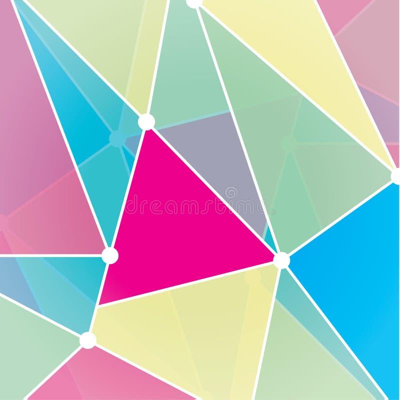 Fundo futurista do fractal do vetor. Do triângulo mosaico coloridamente ilustração do vetor