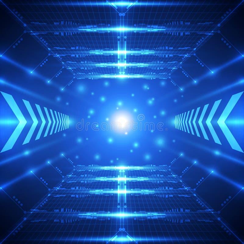 Fundo futuro abstrato do conceito da tecnologia, ilustração do vetor ilustração do vetor