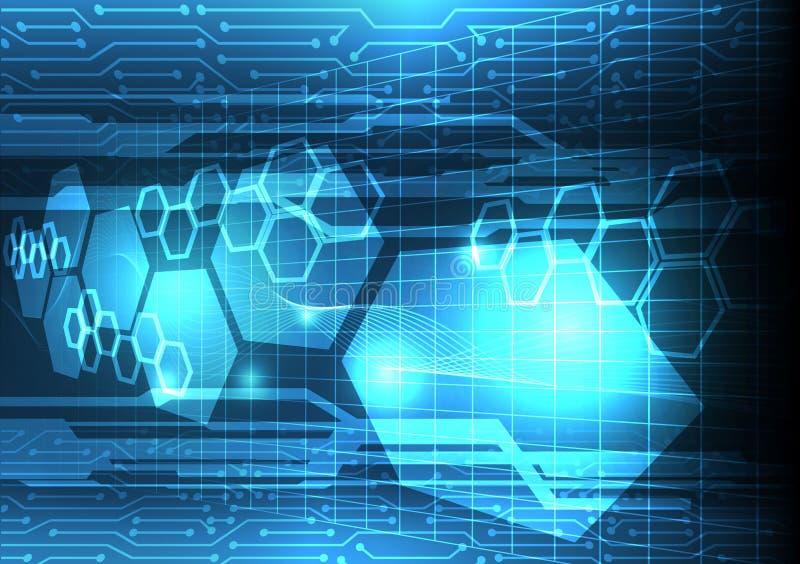 Fundo futuro da análise de dados da eletricidade, communic futurista foto de stock