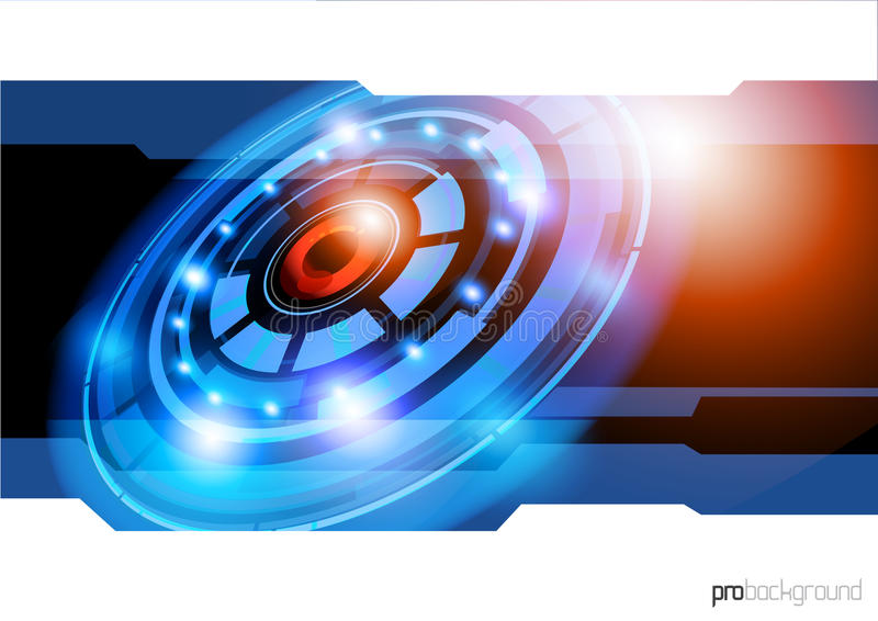 Fundo futuro da tecnologia ilustração royalty free