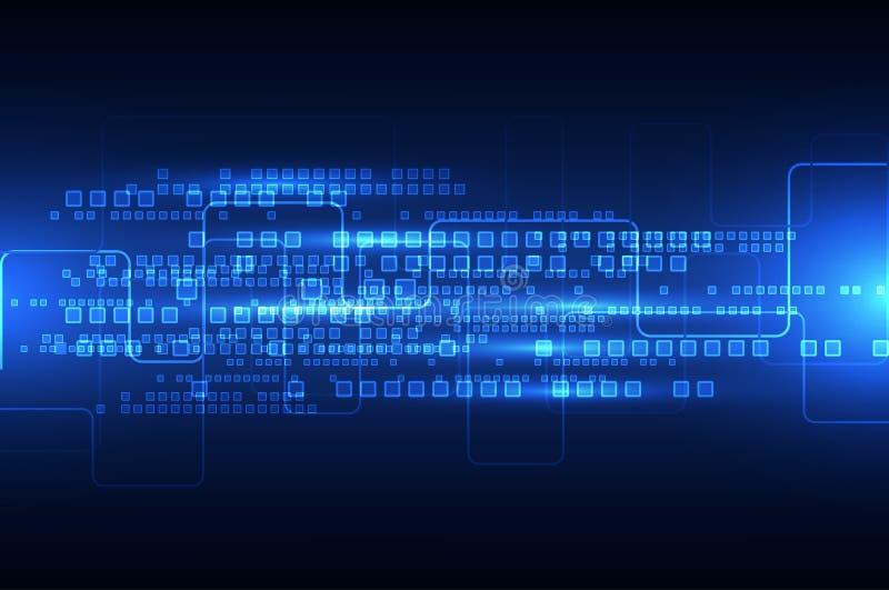 Fundo futuro da tecnologia da engenharia abstrata ilustração stock