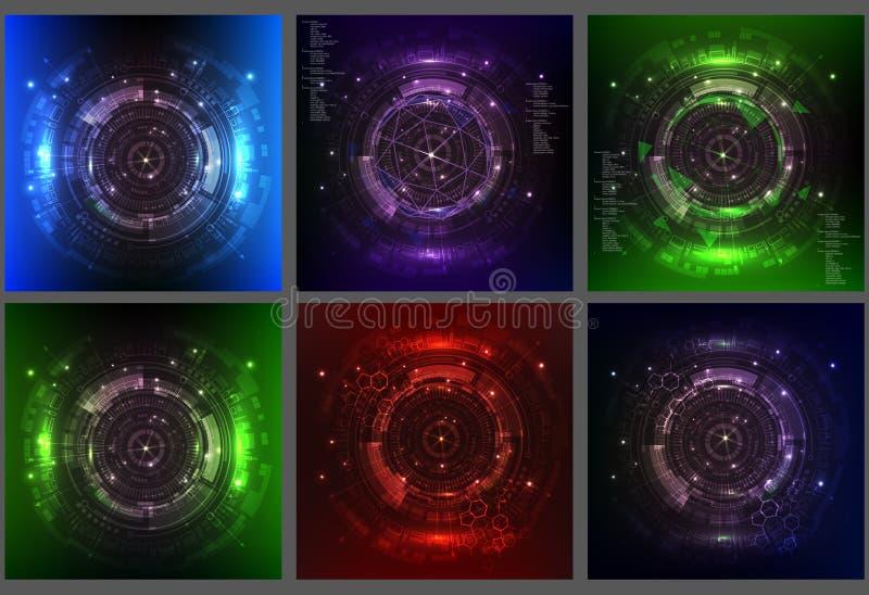 Fundo futuro da tecnologia digital do vetor abstrato, projeto de conceito ilustração do vetor